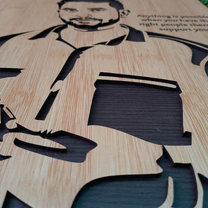 3D Wooden Portrait Hand Assembled