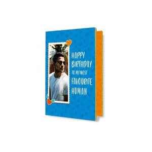 Birthday Audio Greeting Card Sky Blue