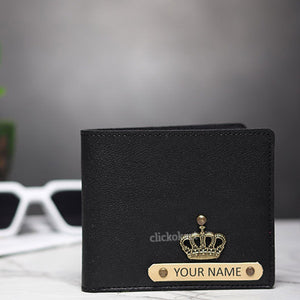 Personalized Men's Wallet With Box