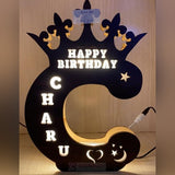 Alphabet C Wooden Led Name Board
