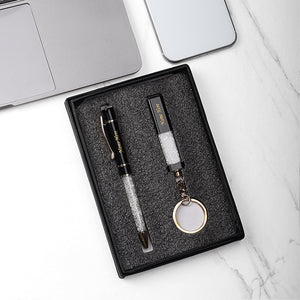 PERSONALIZED METALLIC KEY CHAIN AND PEN COMBO