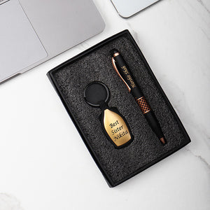 Personalized Golden  pen and key chain combo