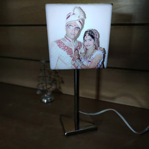 Personalized Glowing Cube With Stand Lamp