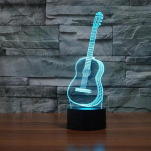 Guitar 3D Acrylic Lamp