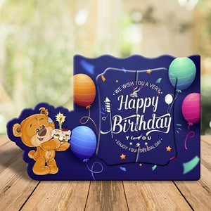 Happy Birthday Blue Magnetic Photo Frame