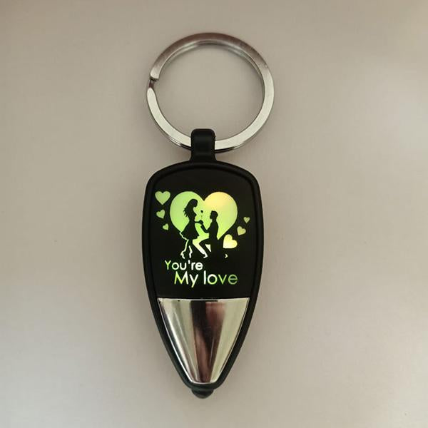 you are my love led key chain