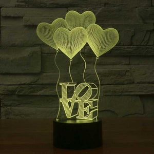 Love Acrylic-3D-Lamp