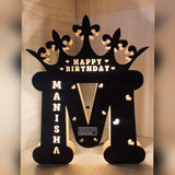 A To Z Wooden Led Name Board
