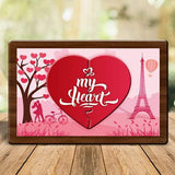 My Heart Magnetic Photo Frame