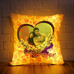 PERSONALIZED LED CUSHION WITH LOVE FOREVER DESIGN