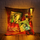 PERSONALIZED LED CUSHION WITH SHAM PEN GLASS DESIGN