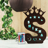 Alphabet S Wooden Multi Color Led Name Board