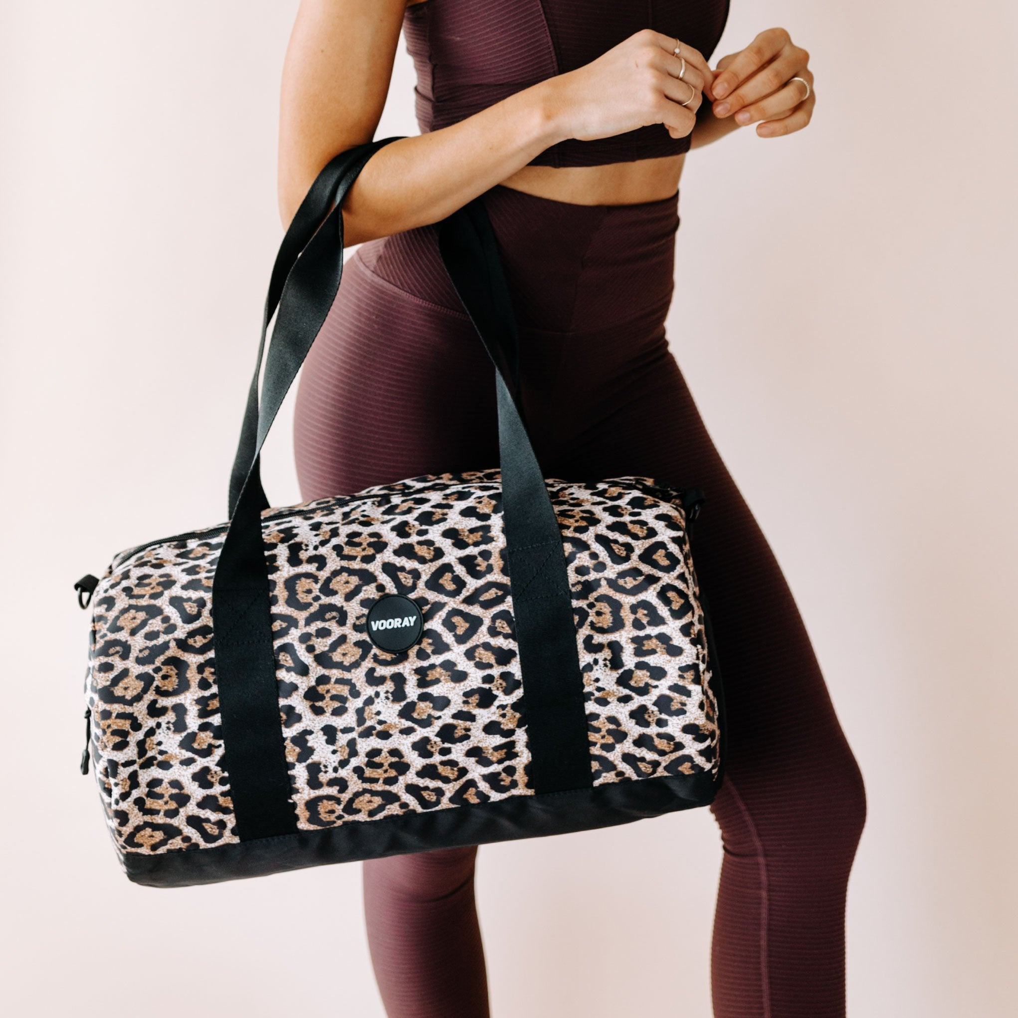 Iconic Barrel Duffel Bag, Cheetah