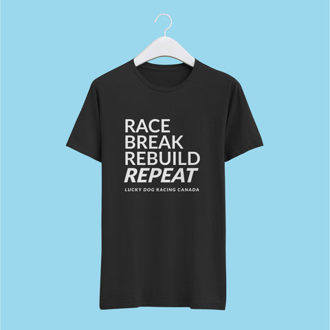Race. Break. Rebuild. Repeat Tshirt