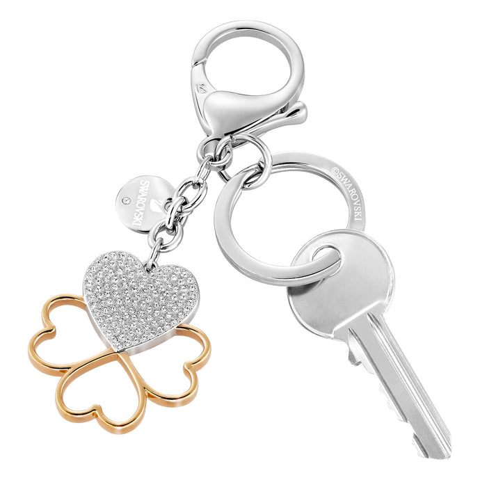 Cupid Bag Charm, White, Mixed plating