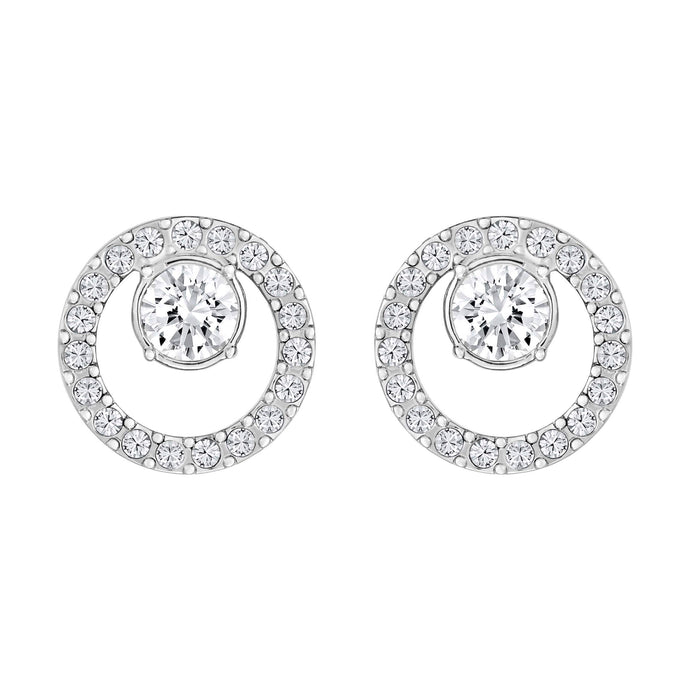 creativity-circle-pierced-earrings-small-white-rhodium-plated