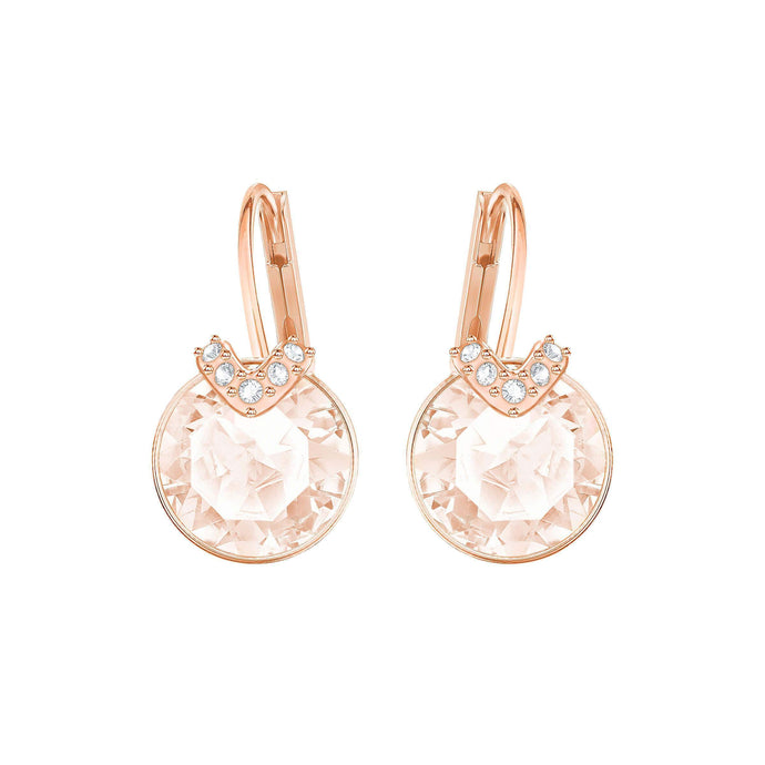 bella-v-pierced-earrings-pink-rose-gold-plated
