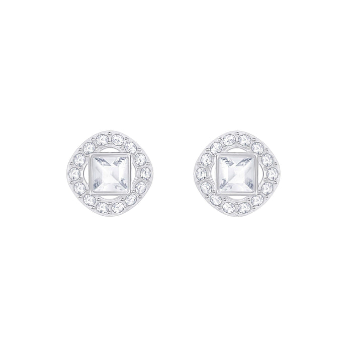 angelic-square-pierced-earrings-white-rhodium-plated