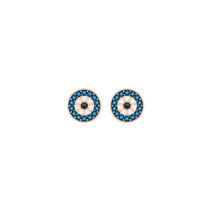 crystal-wishes-evil-eye-pierced-earrings-multi-colored-rose-gold-plating