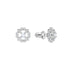 Sparkling Dance Flower Pierced Earrings, White, Rhodium plated