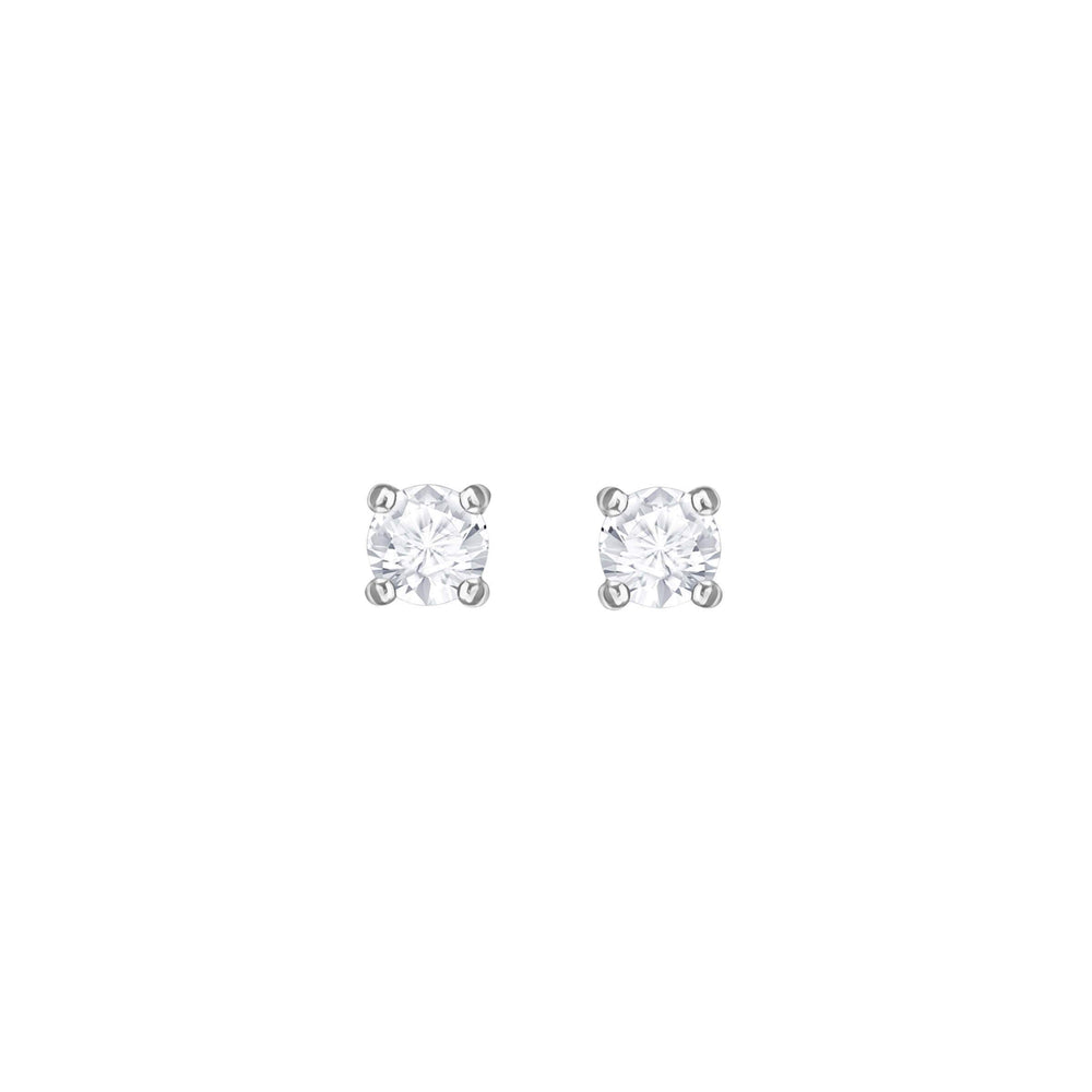 attract-round-pierced-earrings-white-rhodium-plating