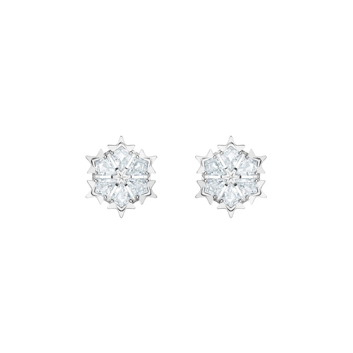 magic-pierced-earrings-white-rhodium-plating