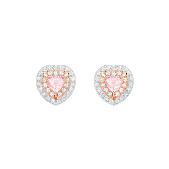 one-stud-pierced-earrings-multi-colored-rose-gold-plating