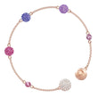 Load image into Gallery viewer, swarovski-remix-collection-pop-strand-purple-rose-gold-plating
