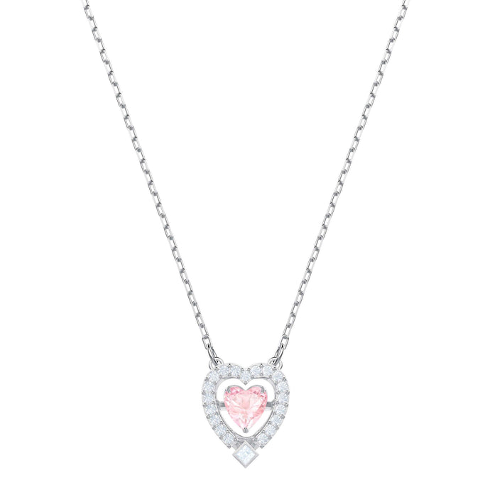 sparkling-dance-heart-necklace-pink-rhodium-plating