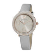 Load image into Gallery viewer, crystal-frost-watch-leather-strap-gray-rose-gold-tone-pvd