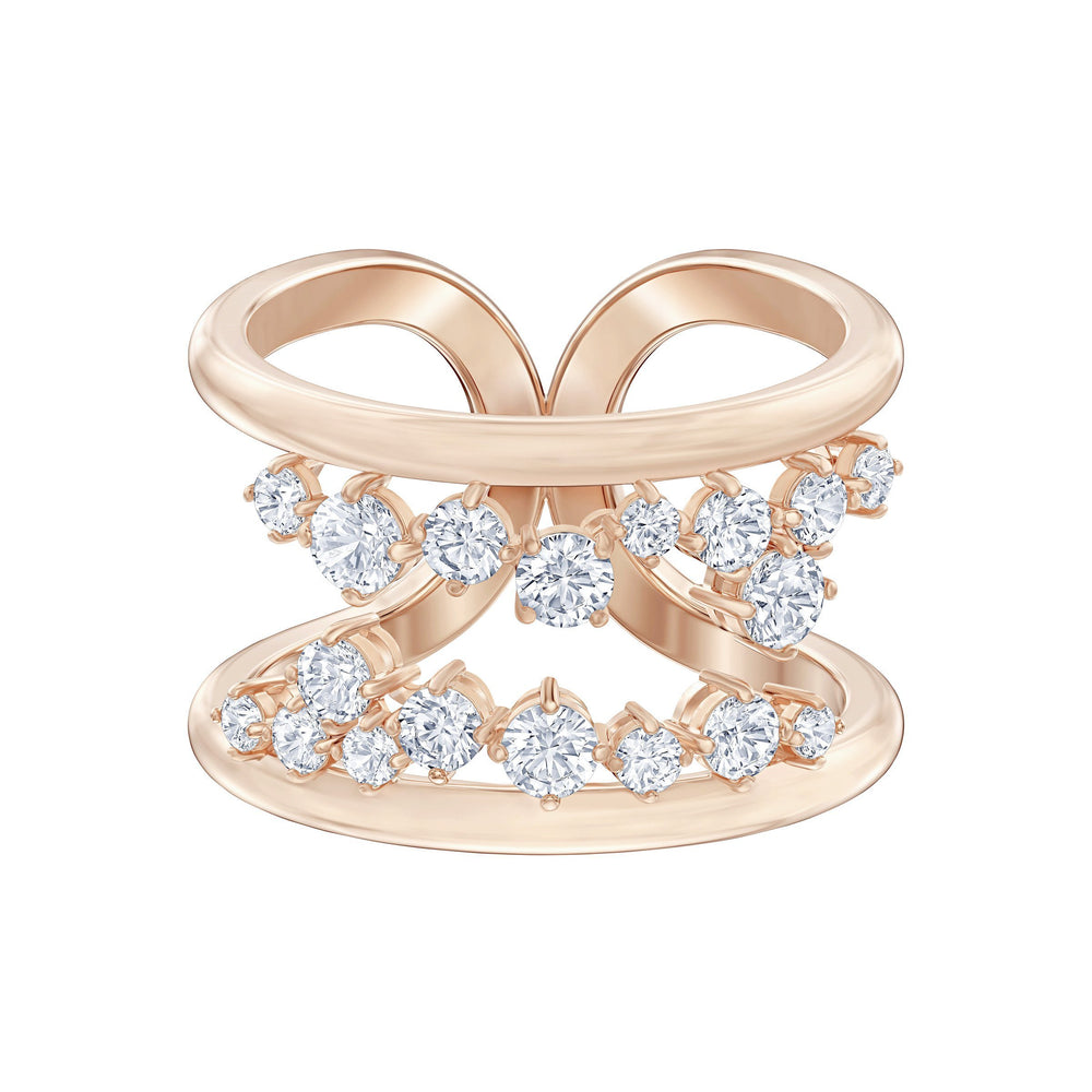 north-motif-ring-white-rose-gold-tone-plated-2
