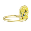 Load image into Gallery viewer, looney-tunes-tweety-motif-ring-yellow-gold-tone-plated