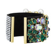 Load image into Gallery viewer, vintage-opulescence-cuff-multi-colored-gold-tone-plated