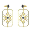 Load image into Gallery viewer, tarot-magic-pierced-earrings-multi-colored-gold-tone-plated-1