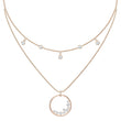Load image into Gallery viewer, north-necklace-white-rose-gold-tone-plated