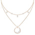 north-necklace-white-rose-gold-tone-plated