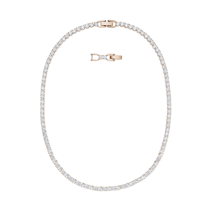 tennis-deluxe-necklace-white-rose-gold-tone-plated