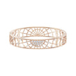 Load image into Gallery viewer, precisely-cuff-white-rose-gold-tone-plated
