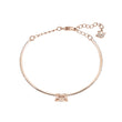 Load image into Gallery viewer, sparkling-dance-bangle-white-rose-gold-tone-plated