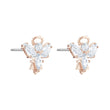 Load image into Gallery viewer, magic-angel-stud-pierced-earrings-white-rose-gold-tone-plated