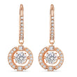 Load image into Gallery viewer, swarovski-sparkling-dance-pierced-earrings-white-rose-gold-tone-plated