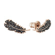Load image into Gallery viewer, naughty-set-black-rose-gold-tone-plated