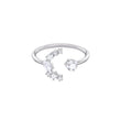 Load image into Gallery viewer, moonsun-motif-ring-white-rhodium-plated