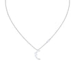 Load image into Gallery viewer, moonsun-necklace-white-rhodium-plated