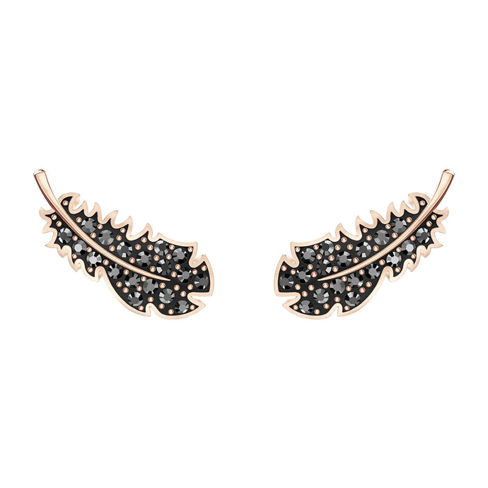 naughty-pierced-earrings-black-rose-gold-tone-plated