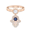 Load image into Gallery viewer, Swarovski Symbolic Motif Ring, Blue, Rose-gold tone plated