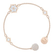 Load image into Gallery viewer, Swarovski Remix Collection Snowflake Strand, White, Rose-gold tone plated