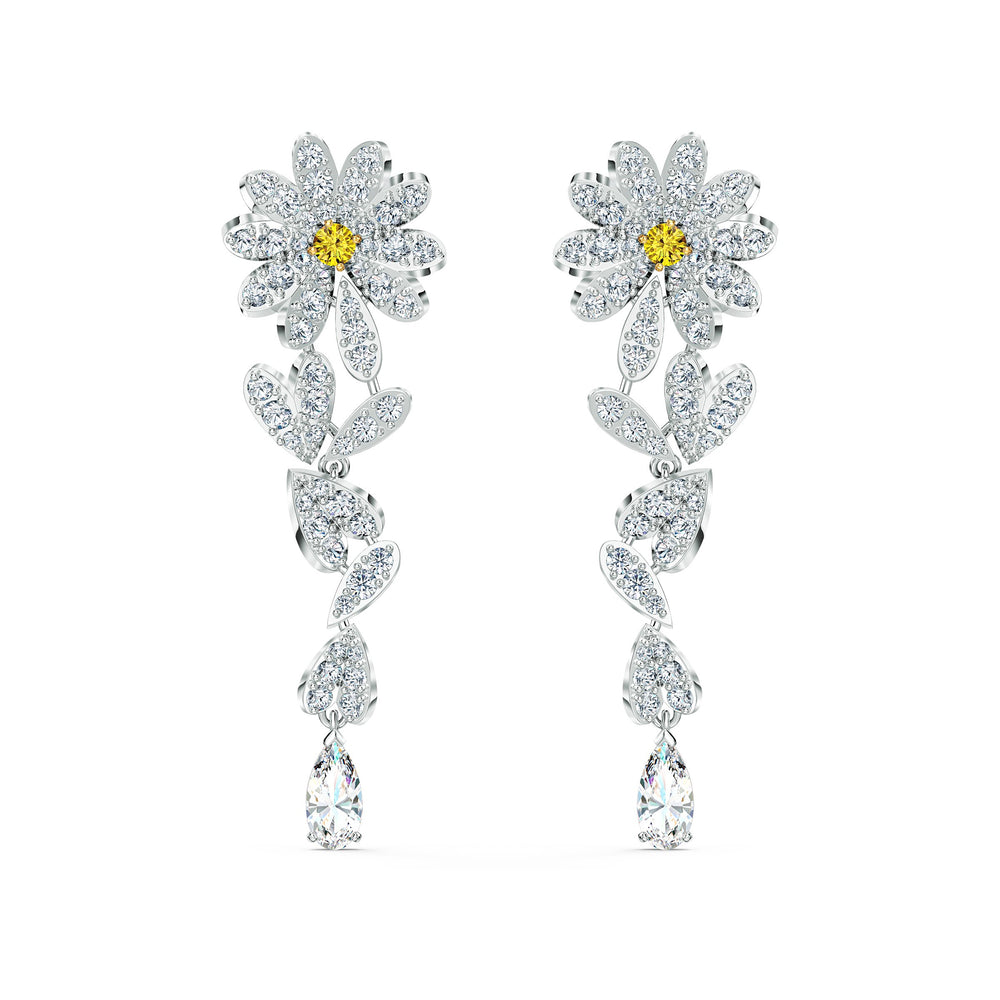 eternal-flower-pierced-earrings-yellow-mixed-metal-finish