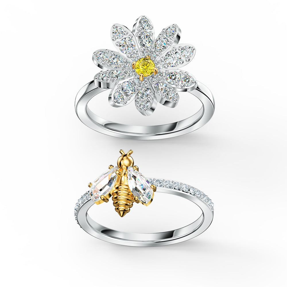 eternal-flower-ring-set-yellow-mixed-metal-finish