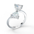 Load image into Gallery viewer, attract-soul-heart-ring-white-rhodium-plated